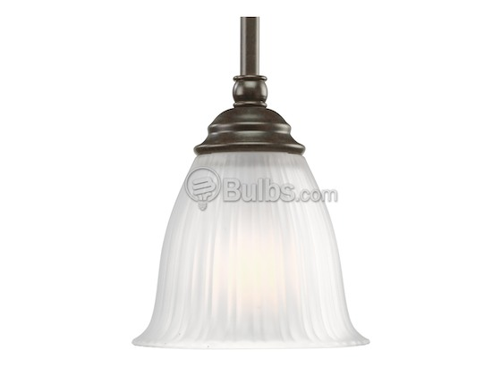 Progress Lighting P5104-77 Mini-Pendant Fixture, Renovations Collection, Forged Bronze