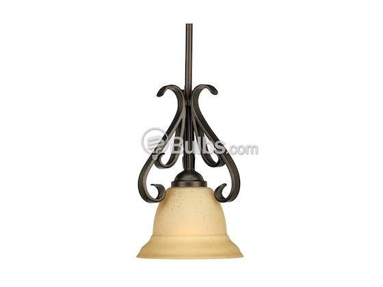 Progress Lighting P5153-77 Mini-Pendant Fixture, Torino Collection, Forged Bronze