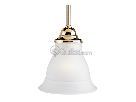 Progress Lighting P5096-10 Mini-Pendant Fixture, Trinity Collection, Polished Brass