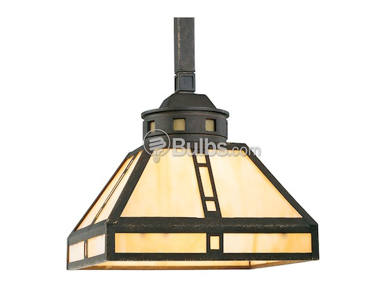 Progress Lighting P5020-46 Mini-Pendant Fixture, Arts & Crafts Collection, Weathered Bronze Finish