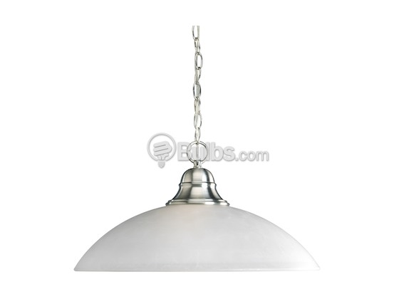 Progress Lighting P5084-09 Pendant Fixture, Pavilion Collection, Brushed Nickel
