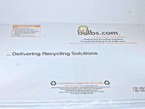 Complete Recycling Solutions RCMISCB-UBent/HID RCMISCB-UBent/HID DISCONTINUED (USE ASB120) Ubent Fluorescents OR HID Recycle Box (Not For Sale Outside of the 48 Contiguous United States Due To Freight Carrier Restrictions.)