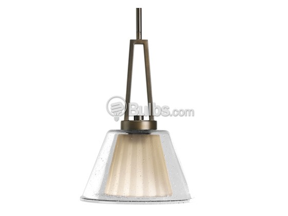 Progress Lighting P5172-108 Mini-Pendant Fixture, Umber and Clear Glass, Oil Rubbed Bronze Finish