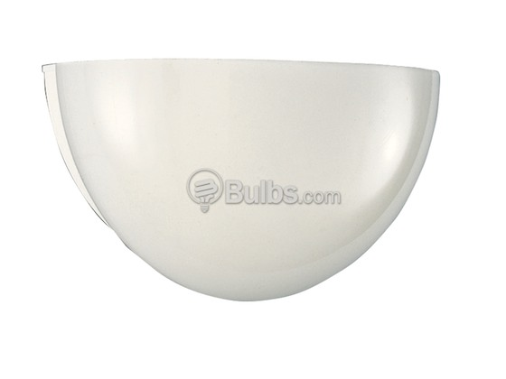 Progress Lighting P7113-30 One-Light Glass Wall Sconce Light Fixture With White Glass Quartersphere