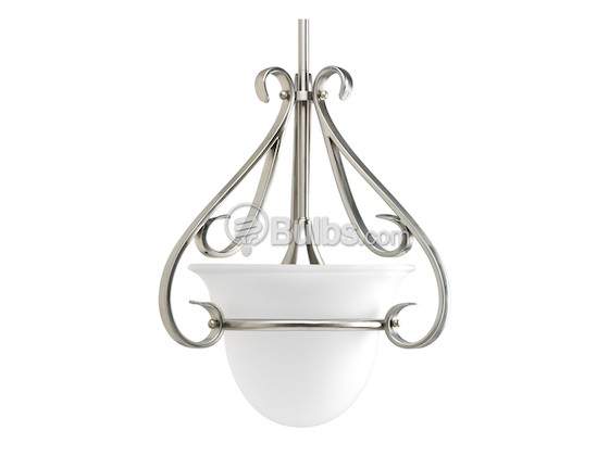Progress Lighting P5144-09 Close-to-Ceiling, One-Light Semi-Flush Fixture, Torino Collection, Brushed Nickel
