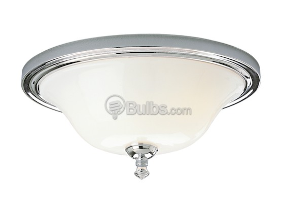 Progress Lighting P3326-15 Close-to-Ceiling, Two-Light Oval Fixture, Victorian Collection, Polished Chrome