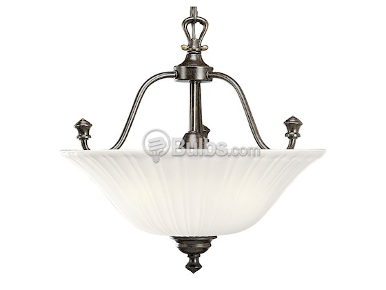 Progress Lighting P3607-77 Close-to-Ceiling, Three-Light Semi-Flush Fixture, Renovations Collection, Forged Bronze