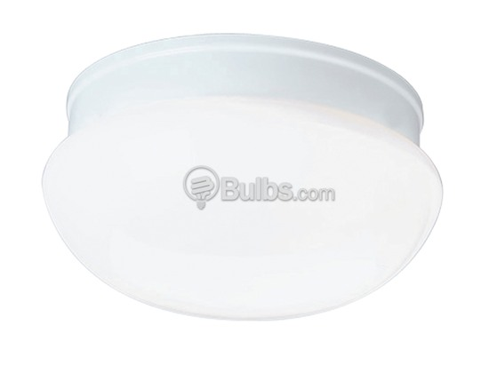 "Progress Lighting P3408-30 Close-to-Ceiling, 6"" Fitter, One-Light Fixture, White Glass, White"