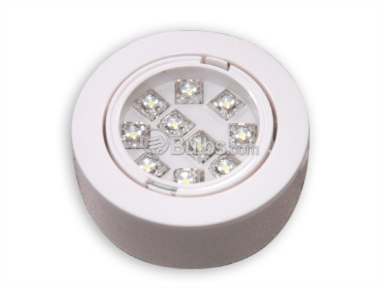 Simkar LEDP1WH120V LED Puck Light Fixture, NON-DIMMABLE, 1 Pack, White