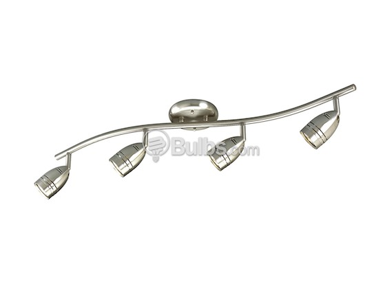 Four Light Wavy Wall Or Ceiling Mount Light Fixture With Multi