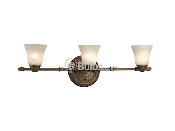 Progress Lighting P3857-86WB Three-Light Directional Fixture, Savannah Collection, Burnished Chestnut Finish
