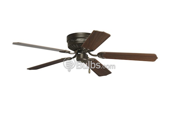 "Progress Lighting P2525-20 52"" Hugger Fan, Antique Bronze with Medium Cherry/Classic Walnut Blades"