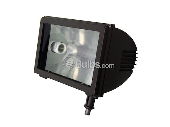 Value Brand QFL61M100QL Round Back Flood Fixture with One 100 Watt MH Lamp, Voltage Must be Specified When Ordering