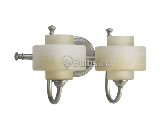 Progress Lighting P2886-134WB Two-Light Ashbury Collection Bath & Vanity Light Fixture, Silver Ridge Finish