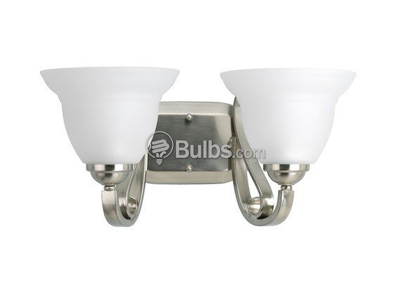 Progress Lighting P2882-09 Two-Light Wall Bracket Light Fixture, Torino Collection, Brushed Nickel