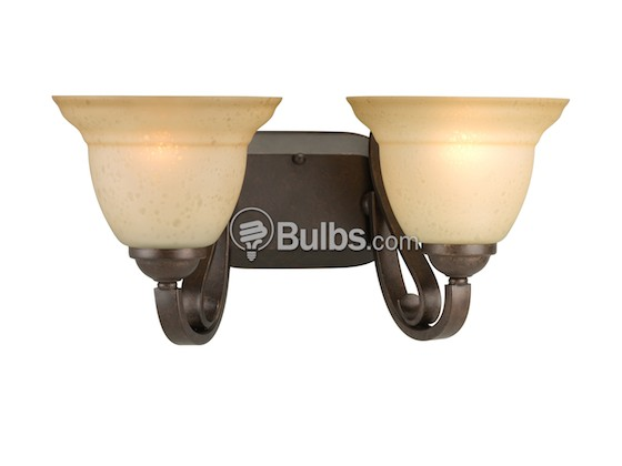 Progress Lighting P2882-77 Two-Light Wall Bracket Light Fixture, Torino Collection, Forged Bronze Finish