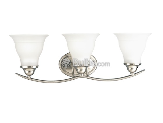 Progress Lighting P3192-09 Three-Light Wall Bracket Light Fixture, Trinity Collection, Brushed Nickel