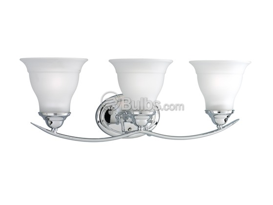 Progress Lighting P3192-15 Three-Light Wall Bracket Light Fixture, Trinity Collection, Polished Chrome