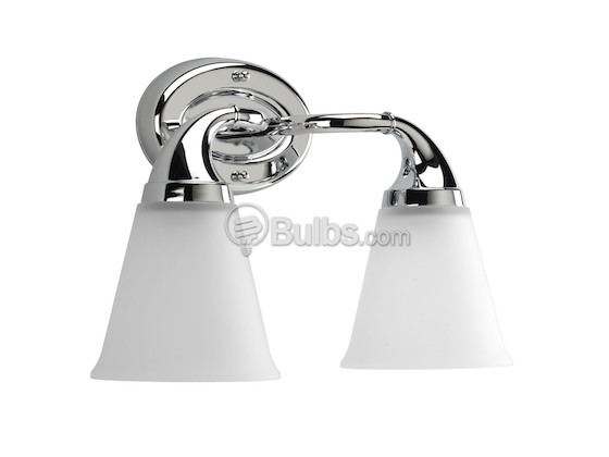 Progress Lighting P2759-15 Two-Light Wall Bracket Light Fixture, Lahara Collection, Polished Chrome