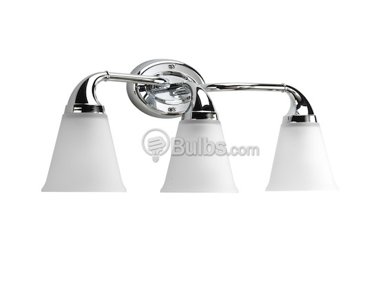Progress Lighting P2760-15 Three-Light Wall Bracket Light Fixture, Lahara Collection, Polished hrome