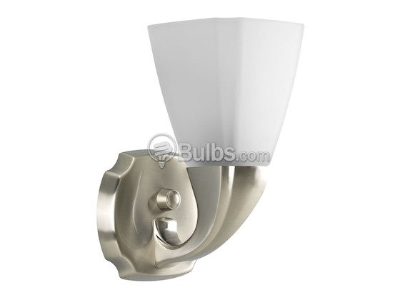Progress Lighting P2846-09 One-Light Wall Bracket Light Fixture, Addison Collection, Brushed Nickel