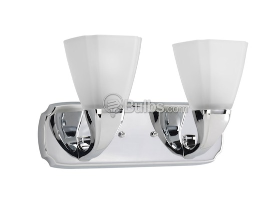 Progress Lighting P2847-15 Two-Light Wall Bracket Light Fixture, Addison Collection, Polished Chrome
