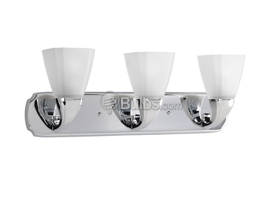 Progress Lighting P2848-15 Three-Light Wall Bracket Light Fixture, Addison Collection, Polished Chrome