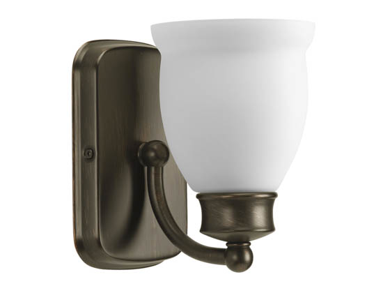 Progress Lighting P2993-74 One-Light Wall Bracket Light Fixture, Leeland Collection, Venetian Bronze Finish
