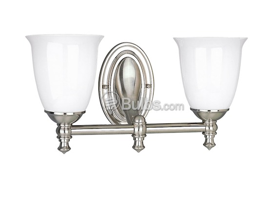Progress Lighting P3028-09 Two-Light Wall Bracket Light Fixture, Victorian Collection, Brushed Nickel