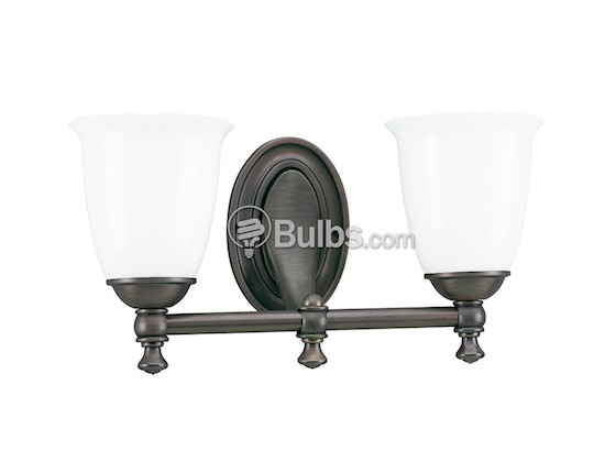 Progress Lighting P3028-74 Two-Light Wall Bracket Light Fixture, Victorian Collection, Venetian Bronze Finish