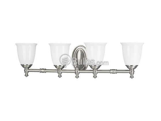 Progress Lighting P3041-09 Four-Light Wall Bracket Light Fixture, Victorian Collection, Brushed Nickel