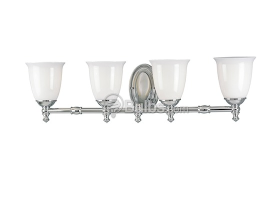 Progress Lighting P3041-15 Four-Light Wall Bracket Light Fixture, Victorian Collection, Polished Chrome