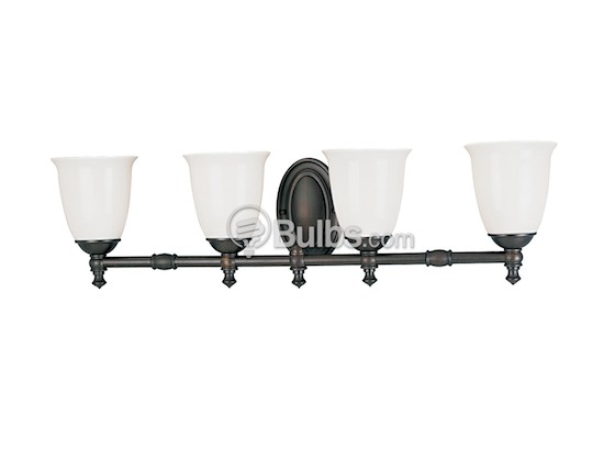 Progress Lighting P3041-74 Four-Light Wall Bracket Light Fixture, Victorian Collection, Venetian Bronze Finish