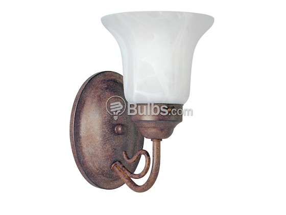 Progress Lighting P3367-33 One-Light Wall Bracket Light Fixture, Bedford Collection, Cobblestone Finish