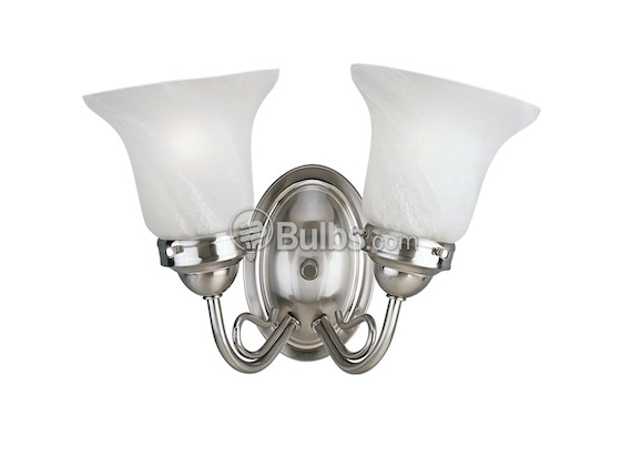 Progress Lighting P3368-09 Two-Light Wall Bracket Light Fixture, Bedford Collection, Brushed Nickel