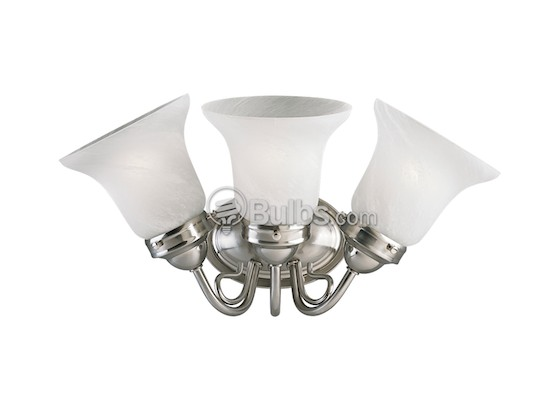 Progress Lighting P3369-09 Three-Light Wall Bracket Light Fixture, Bedford Collection, Brushed Nickel
