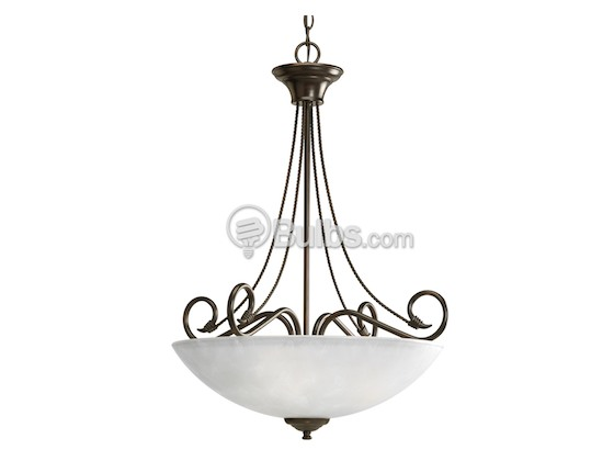 Progress Lighting P3325-20 Three-Light Foyer Fixture, Pavilion Collection, Antique Bronze Finish