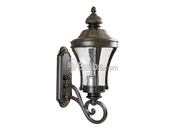 Progress Lighting P5838-77 Three-Light Outdoor Wall Lantern, Nottingham Collection, Forged Bronze Finish