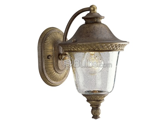 Progress Lighting P5714-86 One-Light Outdoor Wall Lantern, Savannah Collection, Burnished Chestnut Finish
