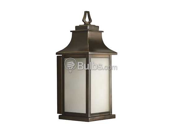 Progress Lighting P5953-108 One-Light Outdoor Wall Lantern, Salute Collection, Oil Rubbed Bronze Finish