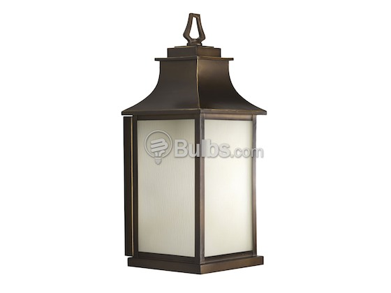 Progress Lighting P5954-108 One-Light Outdoor Wall Lantern, Salute Collection, Oil Rubbed Bronze Finish