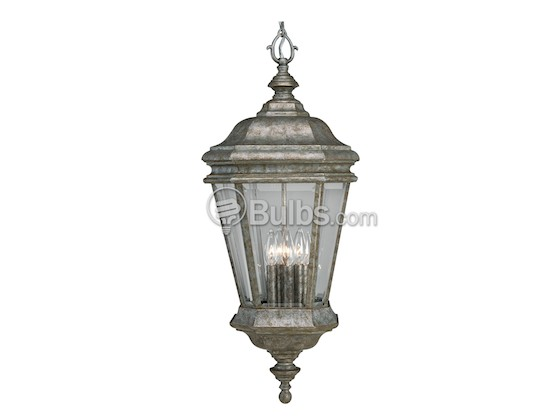 Progress Lighting P5574-50 Four-Light Outdoor Hanging Lantern Fixture, Crawford Collection, Golden Baroque Finish
