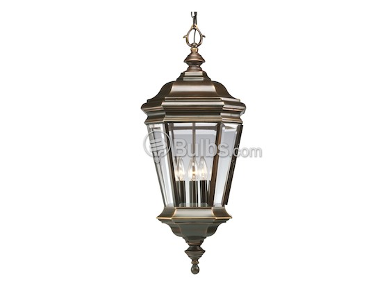 Progress Lighting P5574-108 Four-Light Outdoor Hanging Lantern Fixture, Crawford Collection, Oil Rubbed Bronze Finish