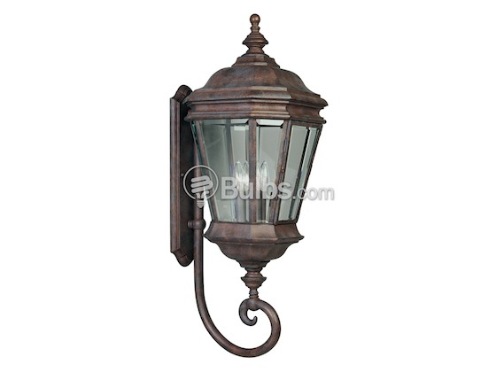 Progress Lighting P5673-33 Four-Light Outdoor Wall Lantern, Crawford Collection, Cobblestone Finish