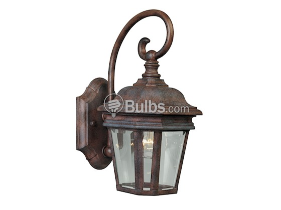 Progress Lighting P5670-33 One-Light Outdoor Wall Lantern, Crawford Collection, Cobblestone Finish