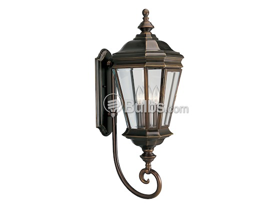 Progress Lighting P5672-108 Three-Light Outdoor Wall Lantern, Crawford Collection, Oil Rubbed Bronze Finish