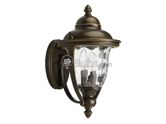 Progress Lighting P5921-108 Two-Light Outdoor Wall Lantern, Prestwick Collection, Oil Rubbed Bronze Finish