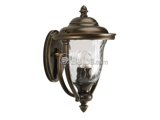 Progress Lighting P5923-108 Three-Light Outdoor Wall Lantern, Prestwick Collection, Oil Rubbed Bronze Finish