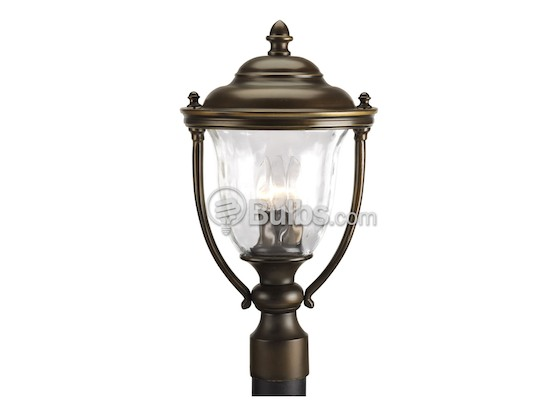 Progress Lighting P5484-108 Three-Light Outdoor Post Lantern, Prestwick Collection, Oil Rubbed Bronze Finish