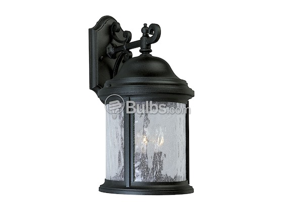 Progress Lighting P5650-31 Three-Light Outdoor Wall Lantern, Ashmore Collection, Textured Black